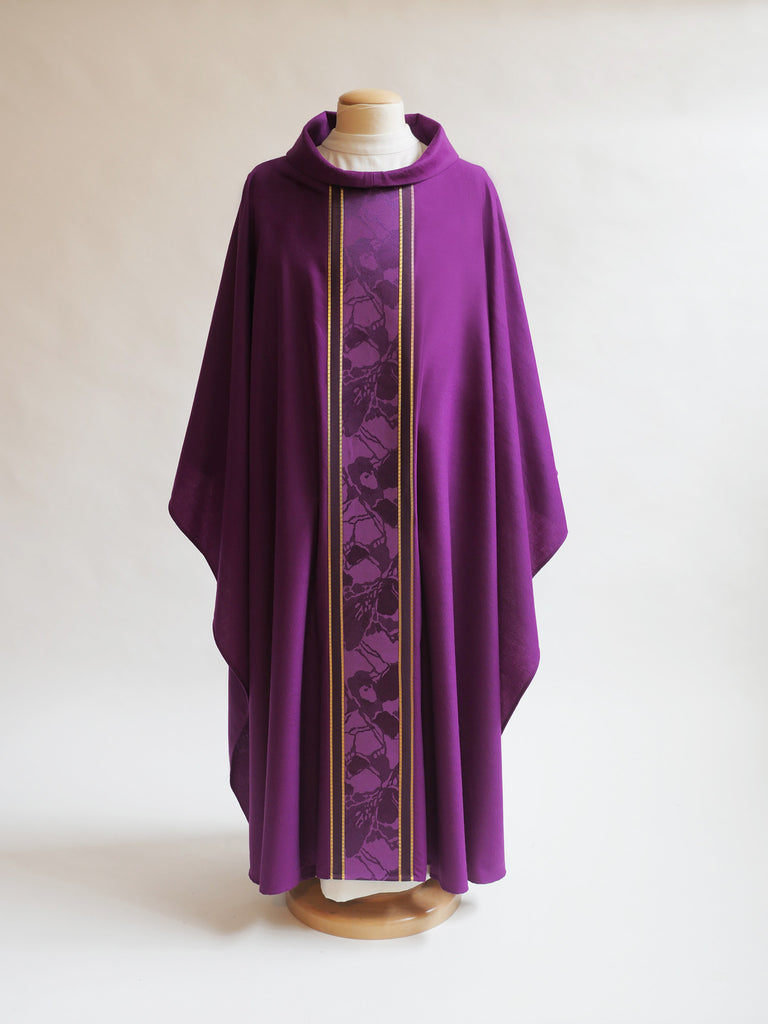 Advent lent classic purple chasuble