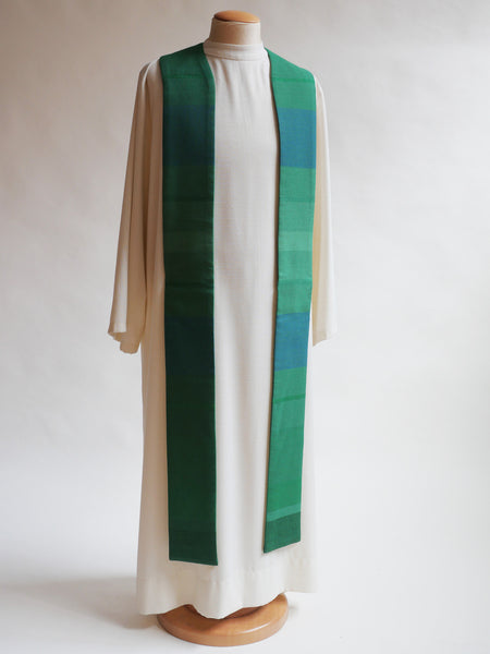 woven green stole ordinary time