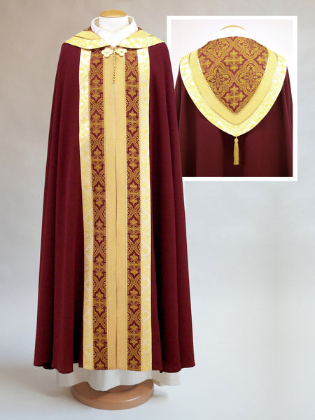 brocade cope for pentecost and confirmations