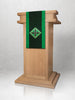 Green Silk Sample Lectern Hanging
