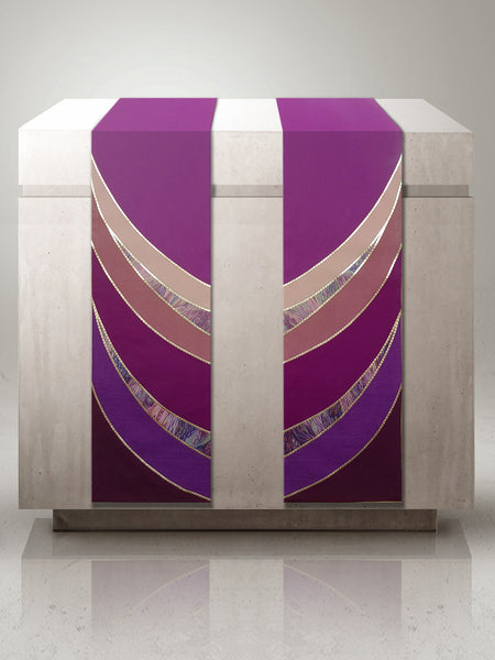 Curvilinear Purple Altar Scarves