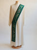 eucharistic ordinary time green deacon stole
