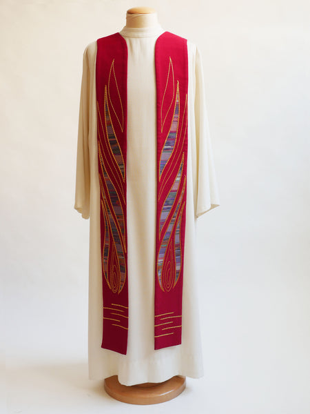 pentecost flame stole