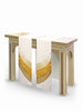 The Francis Curvilinear Simone White & Bella Gold <br> Altar Scarves