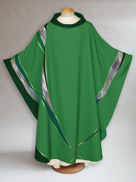 Curvilinear Monet Green Chasuble