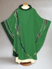 Curvilinear Woven Green Chasuble