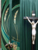 Ordinary Time Eucharistic Green Wall Hangings and Altar Scarves