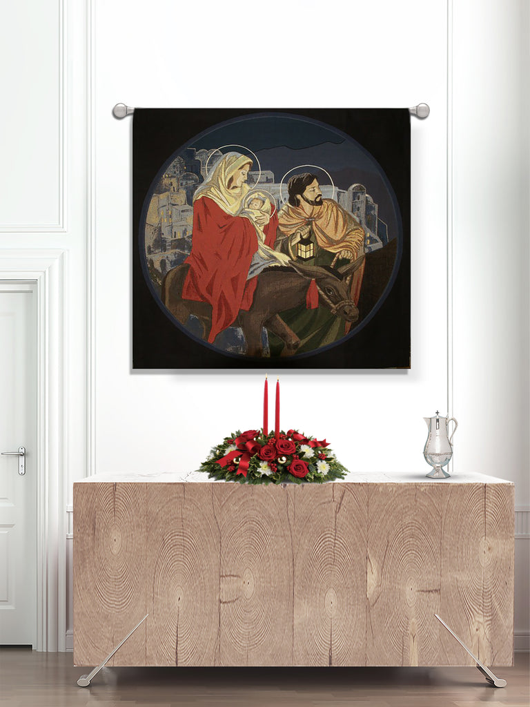 Christmas Holy Family Woven Tapestry (A)
