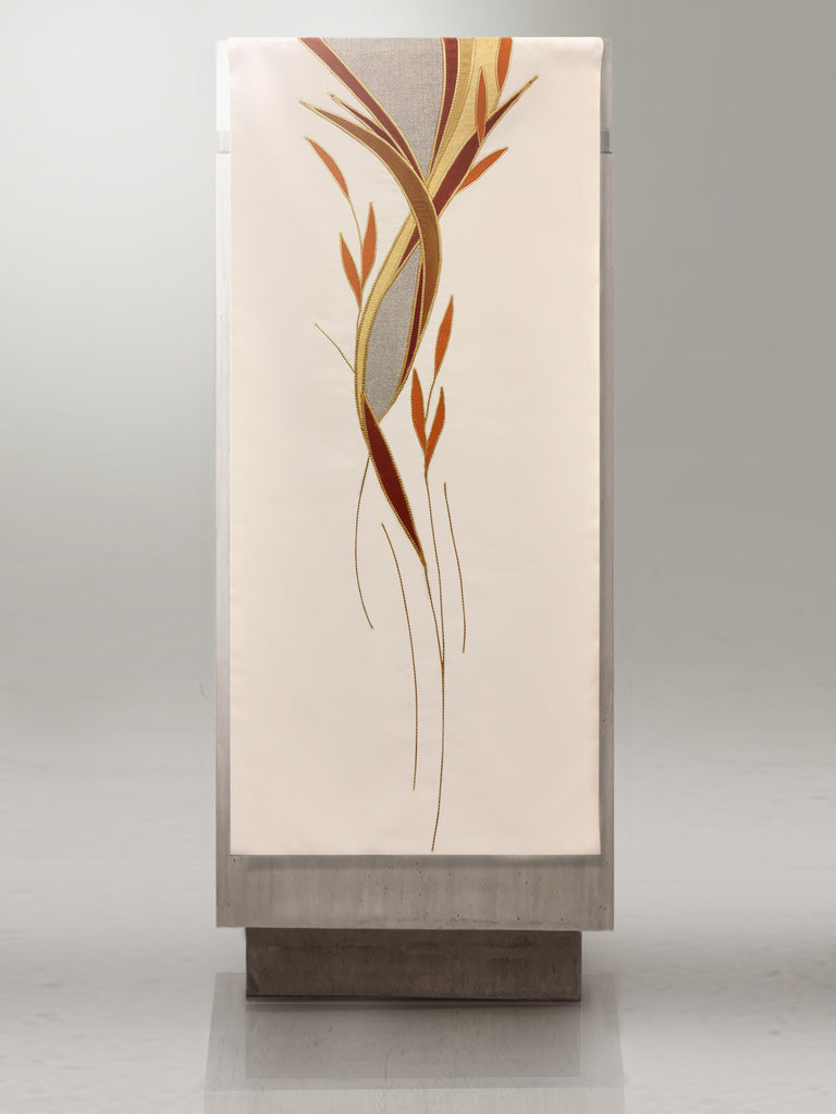 White & Gold Foliage Lectern Hanging