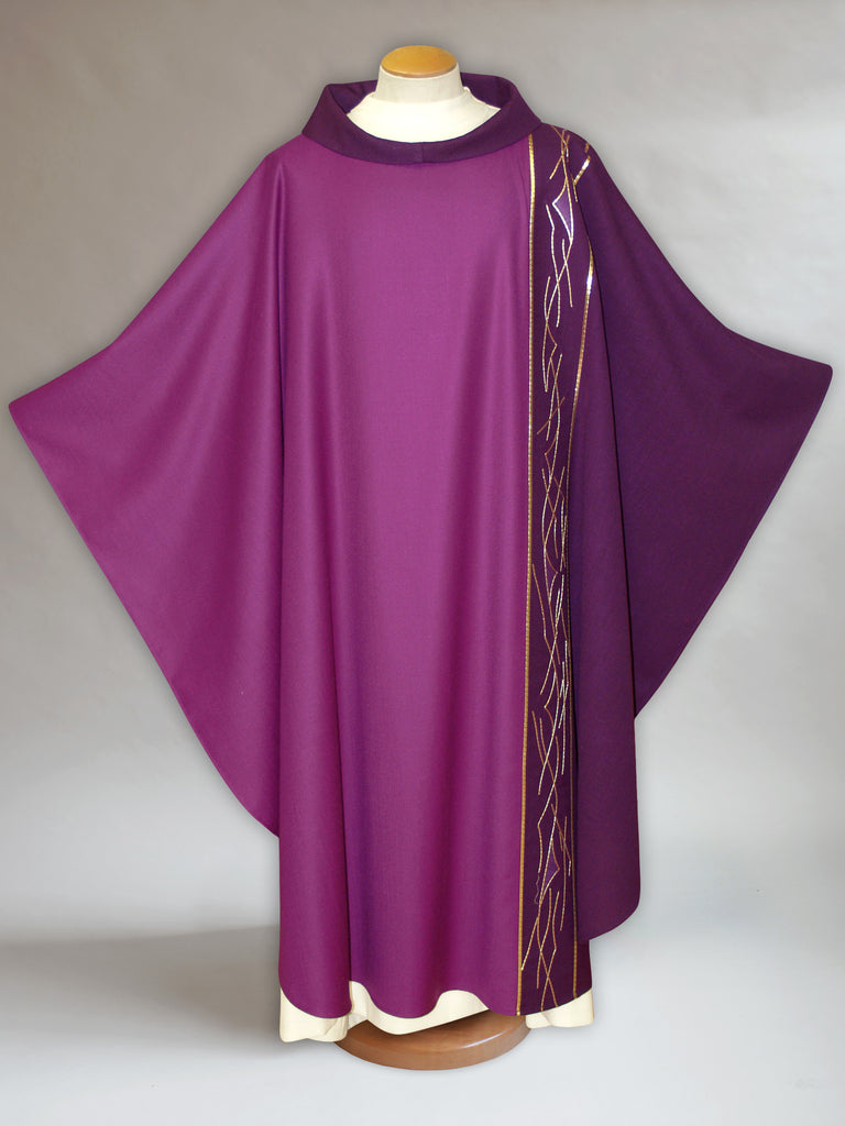 Asymmetrical Lent Chasuble with Thorns