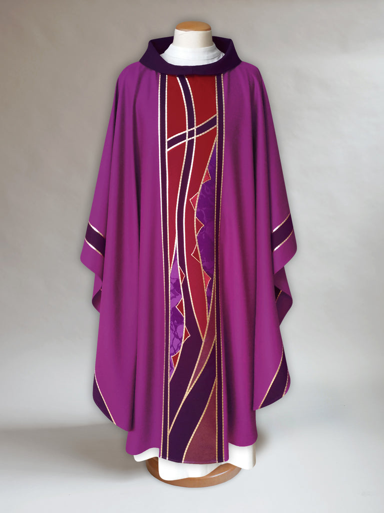 Classic Lenten Chasuble with Cross and Thorns
