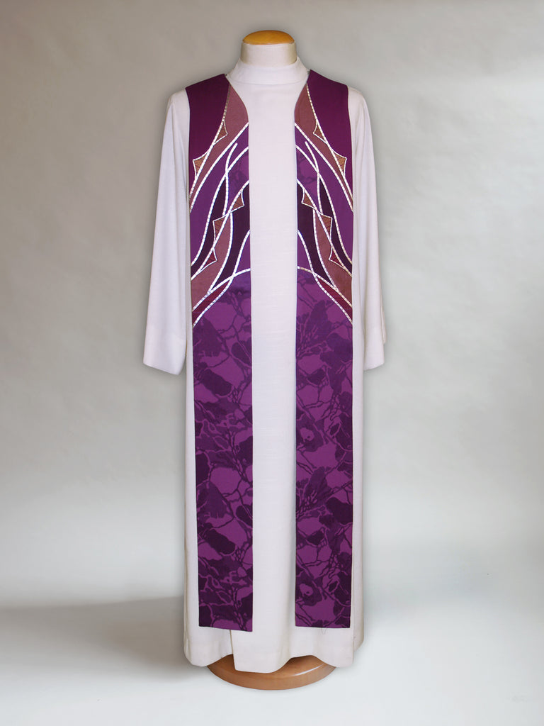 Simplified Lenten Stole with Thorns