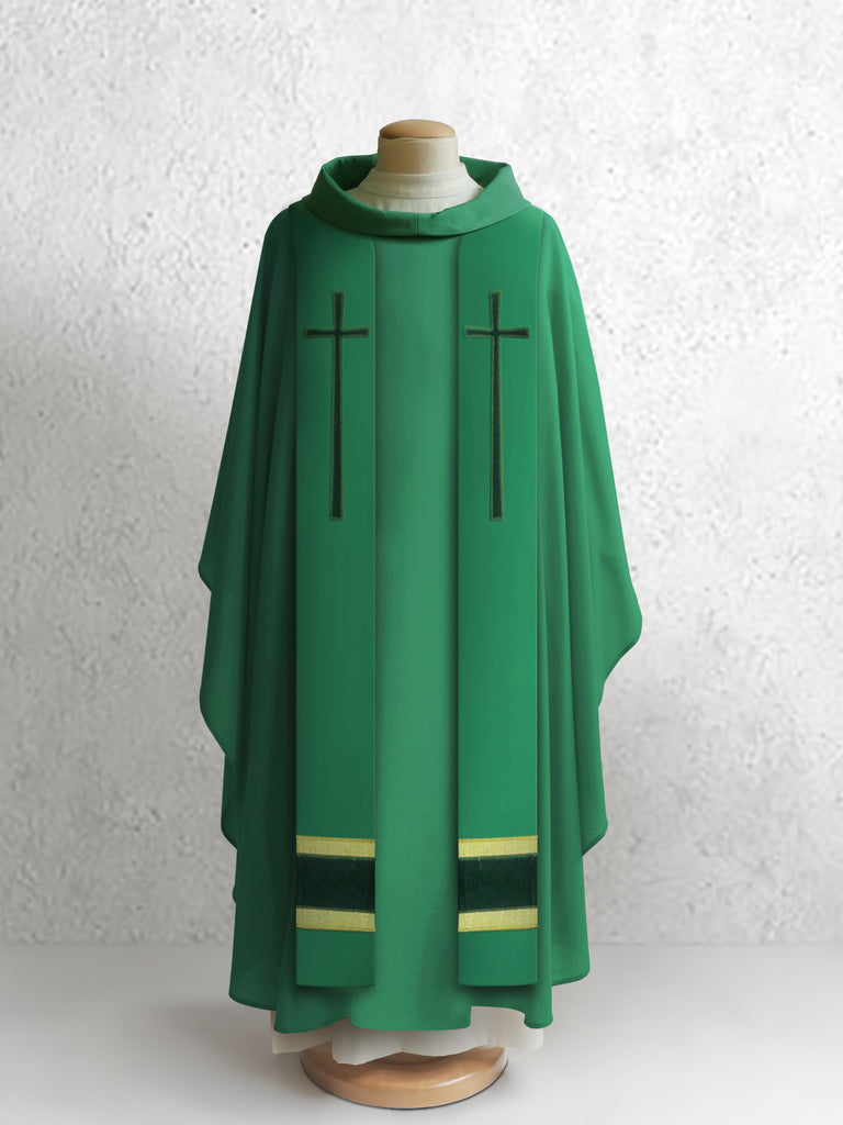 378 True Cross Stole in Green