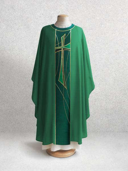 811 Cross Chasuble  in Green