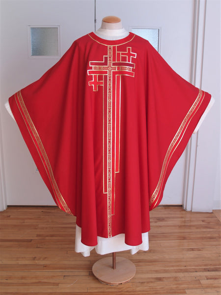 Multi Cross Red Chasuble