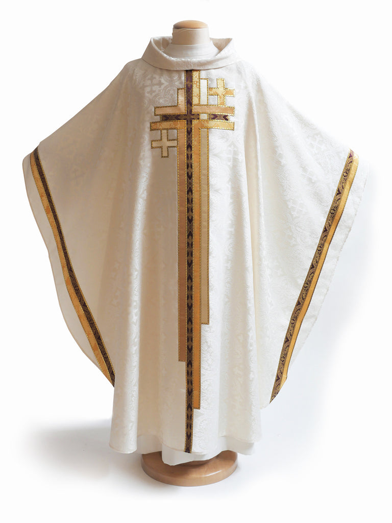 Multi Cross White Chasuble