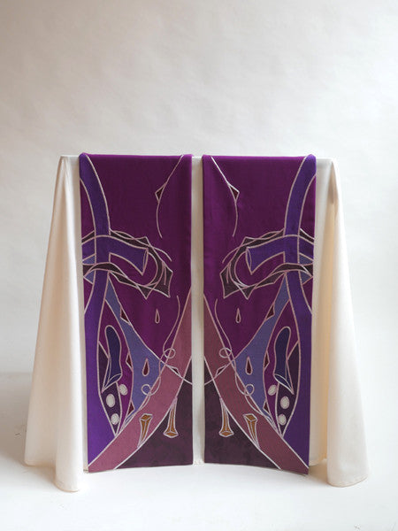 lent symbology purple altar scarves