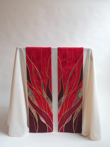 pentecost flame red altar scarves