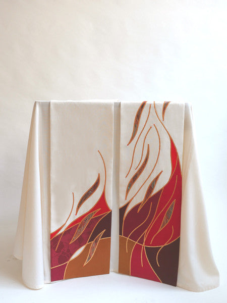 pentecost flame scarves