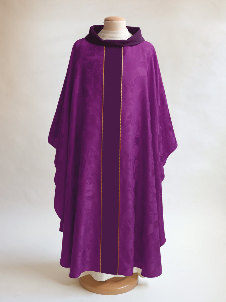 lent classic bella purple chasuble