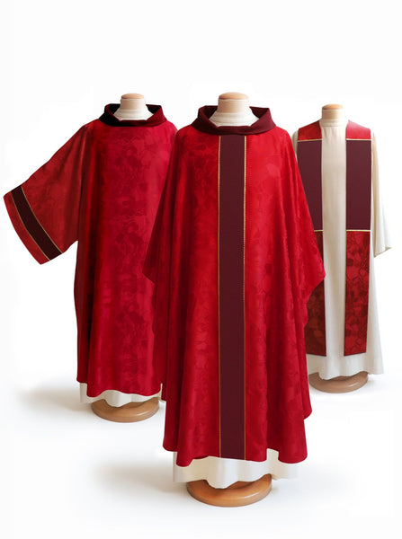 The Francis Classic Bella Red & Crepe Burgundy Collection