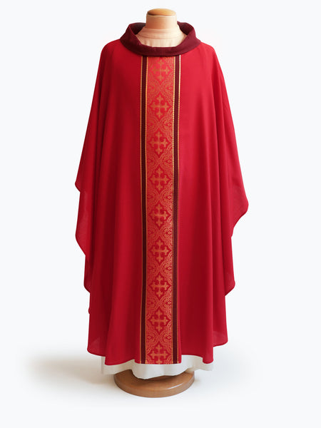 The Classic Red Brocade Chasuble