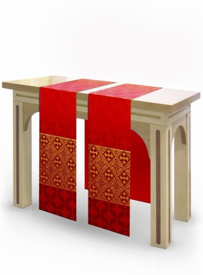 The Francis Classic Lucia Red & Brocade Red <br> Altar Scarves