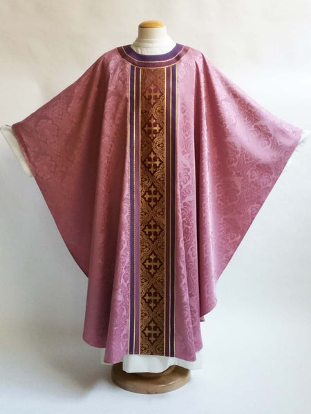gaudete & laetare 3 brocade rose vestment lent and advent
