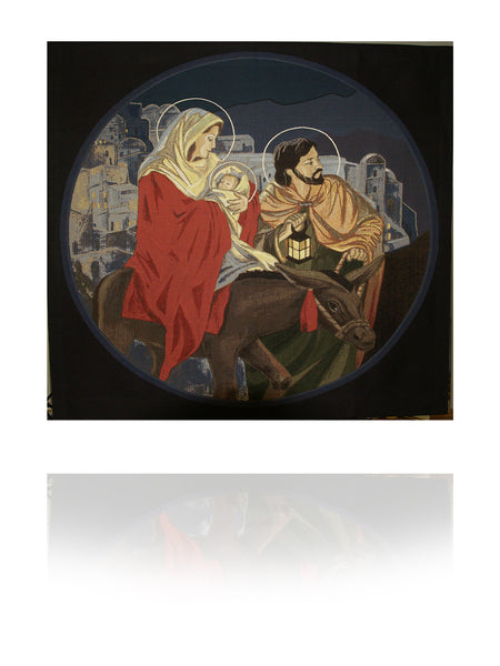 Christmas Holy Family Woven Tapestry