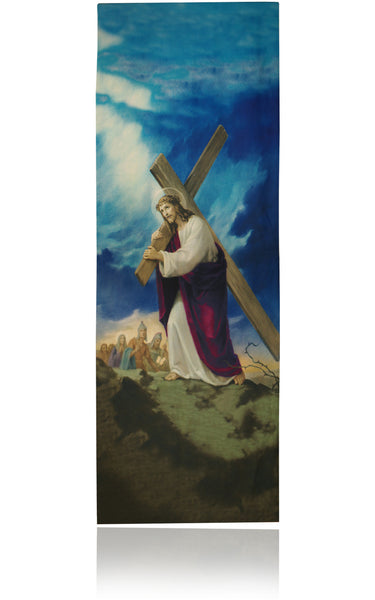 Jesus Carrying the Cross Banner