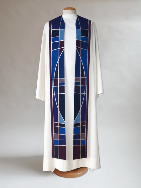 Advent Stained Glass Stole