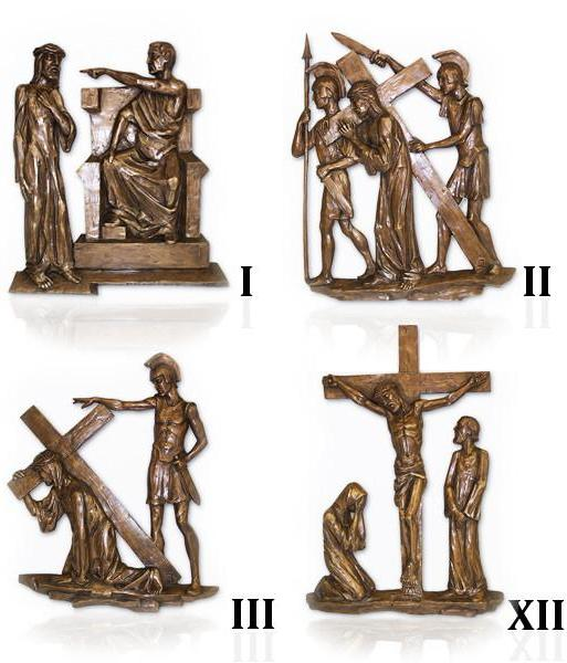 Stations of the Cross in Bronze