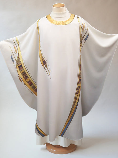 paintbrush white vestment easter and christmas