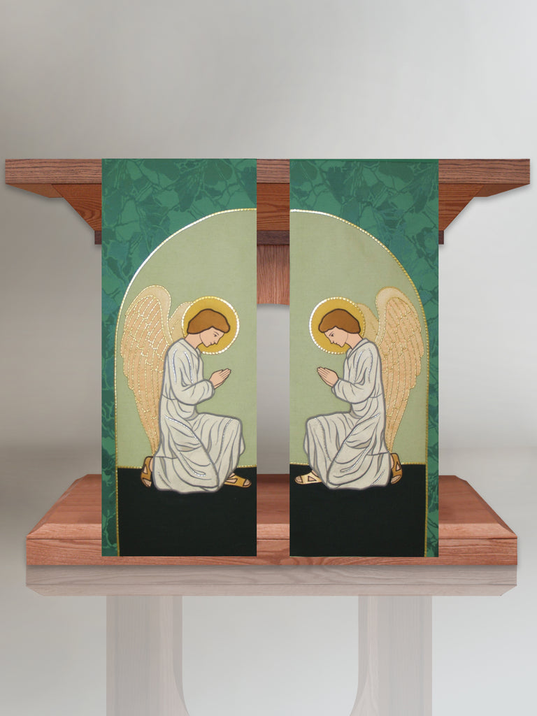 Praying Angel Altar Scarves in Green