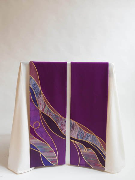 Purple Water Altar Scarves for Advent or Lent (A)