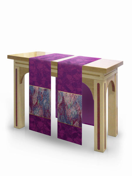 The Francis Classic Bella Purple & Monet Purple <br> Altar Scarves