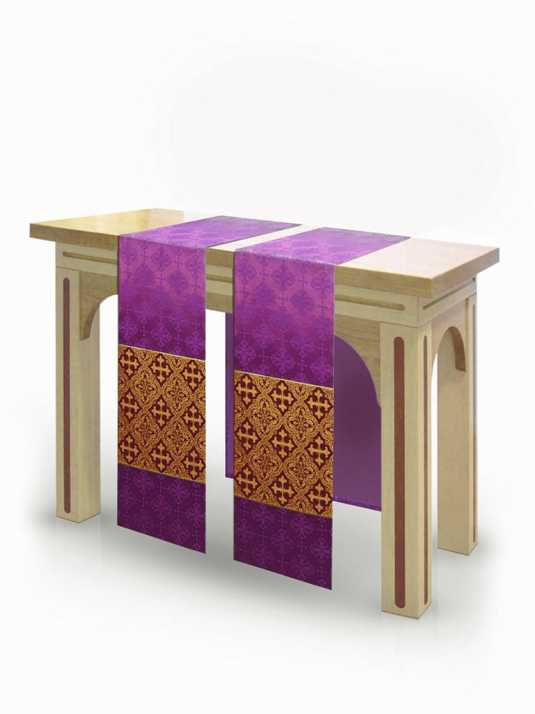 The Francis Classic Lucia Purple & Brocade Burgundy <br> Altar Scarves