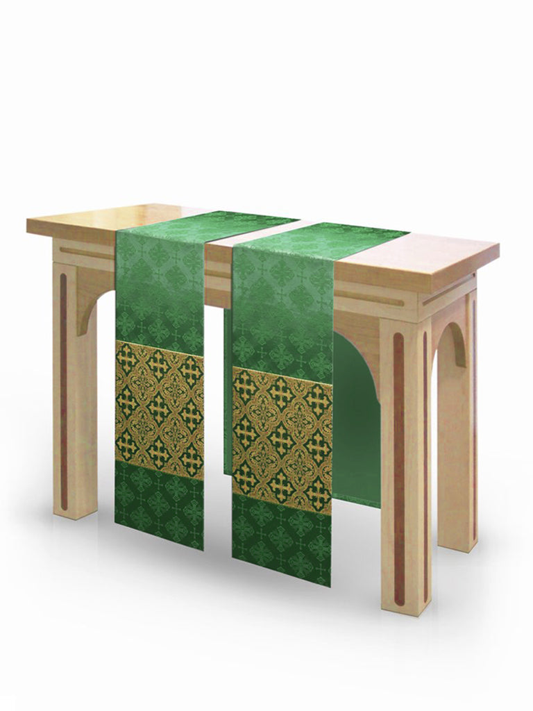 The Francis Classic Lucia Green & Brocade Green <br> Altar Scarves
