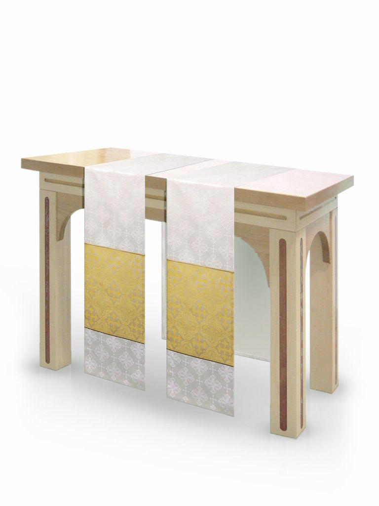 The Francis Classic Lucia White & Brocade Gold <br> Altar Scarves