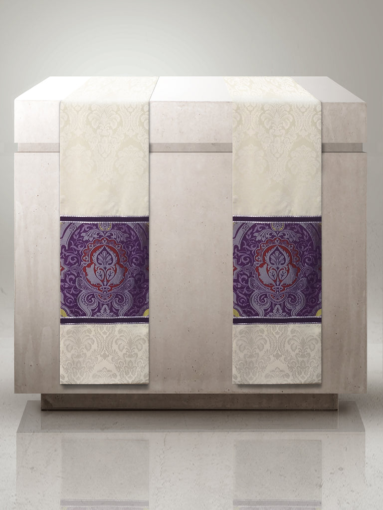 Classic Barcelona Purple Altar Scarves