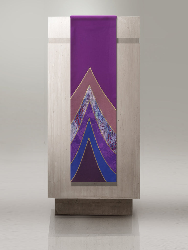 Curvilinear Lectern Hanging Sample for Advent or Lent
