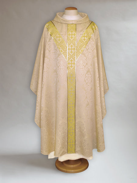 Y-Yoke Parchment & Gold sample Chasuble