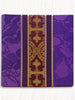 Classic Bella Purple and Burgundy Brocade Burse & Chalice Veil Set