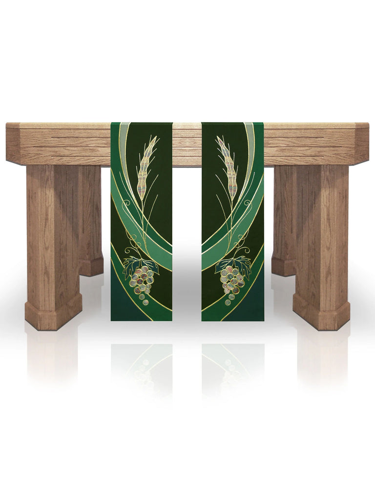 Eucharistic Green Altar Scarves (B)