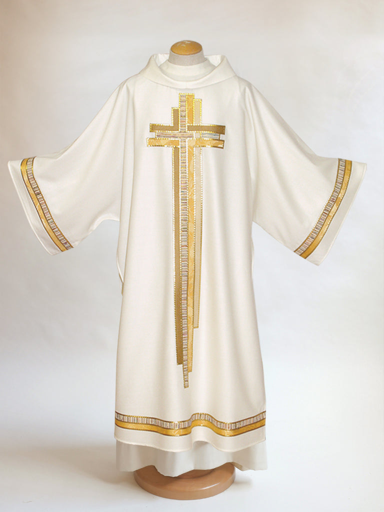 multi cross dalmatic white easter and christmas