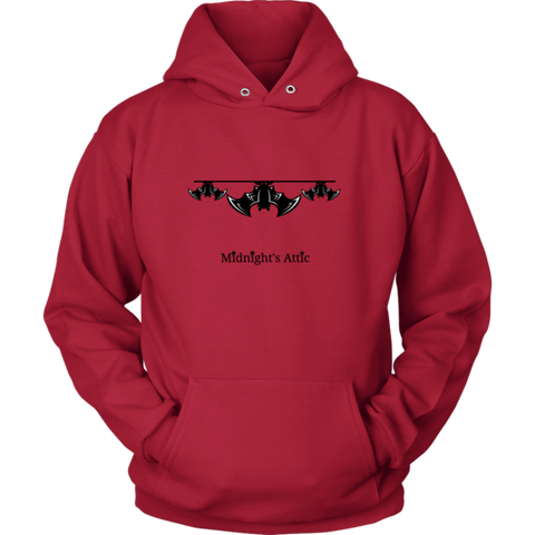 Hanging Out Bats Red Hoodie