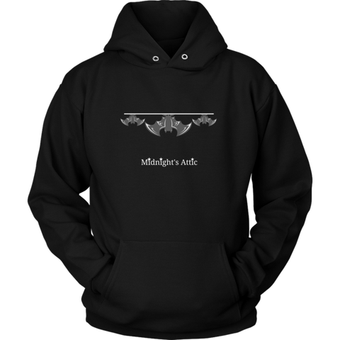 Black Hanging Out Bats Hoodie