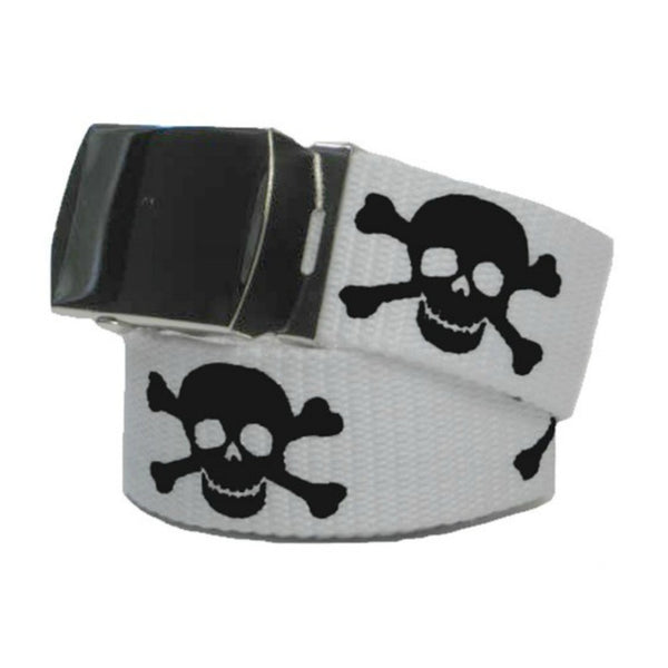 Skull and Cross Bones G.I. Belt, Belt, Midnight's Attic - Midnight's Attic