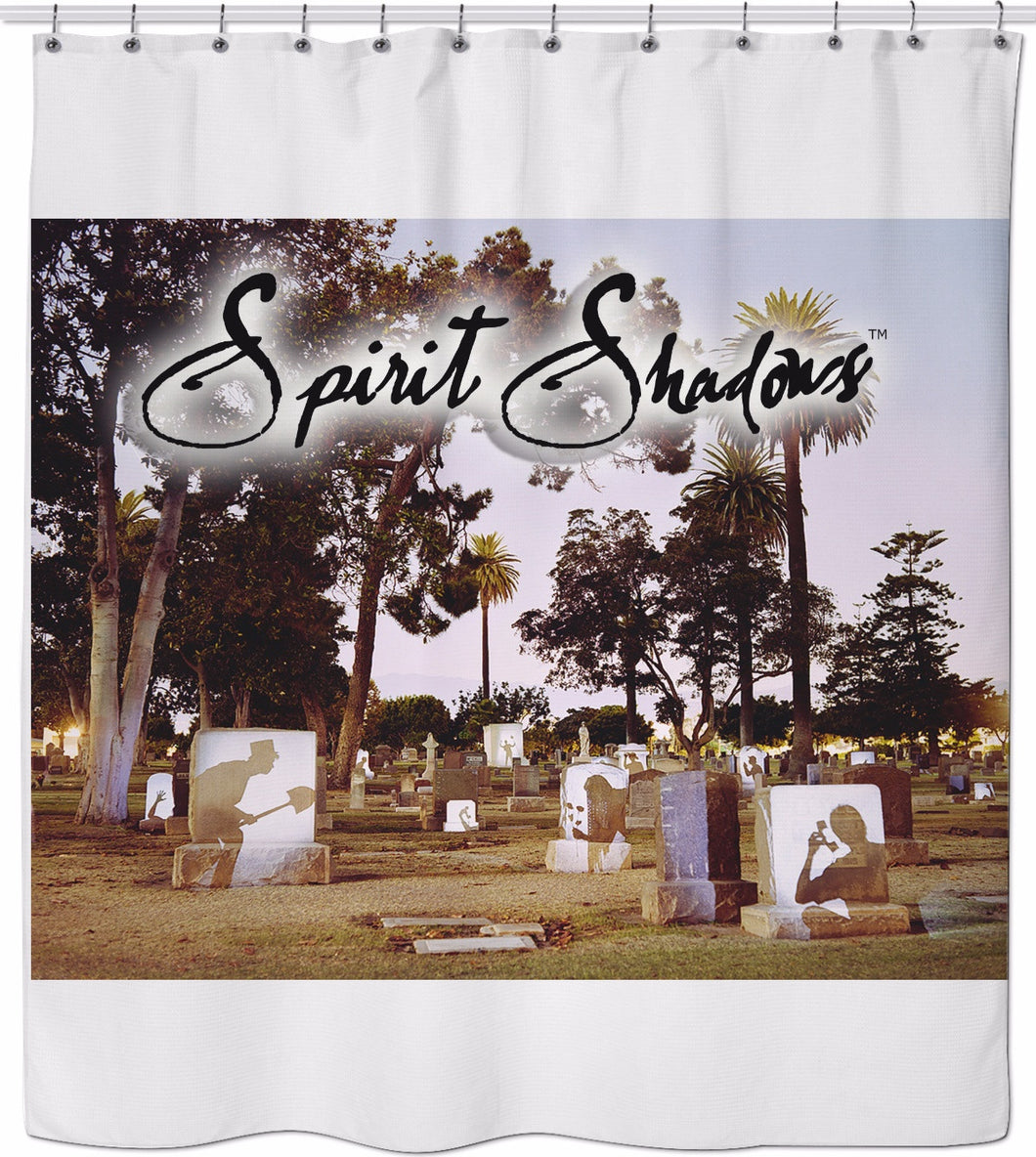 Graveyard Spirits Shower Curtain