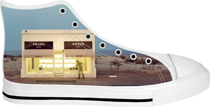 Prada Marfa Cowboy Spirit White High Tops Shoes